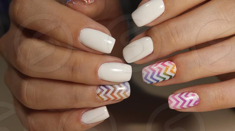 Manicure nail design for beautiful girls photo