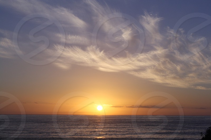 sea view with sunset  photo
