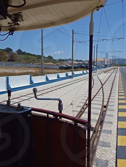 vintage tramway car line photo