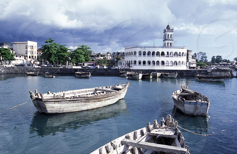 the mosque in the city of Moroni in the Island of  Comoros in the Indian Ocean in Africa    photo