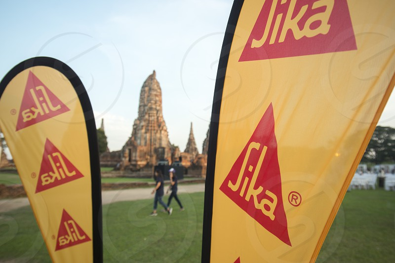 a event of sika at the Wat chai wattanaram in the city of Ayutthaya north of bangkok in Thailand in southeastasia. photo