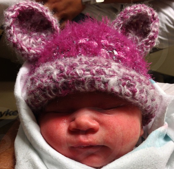 Pink hat photo
