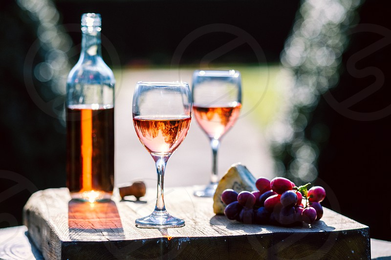 Rose winegrapescheesewinesunshine photo