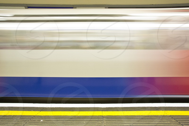 Platform moving train underground transport journey line tube metro motion rail blur  photo