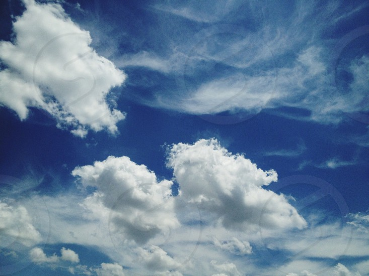 white clouds view  photo