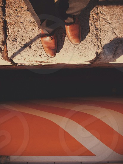 brown leather shose photo