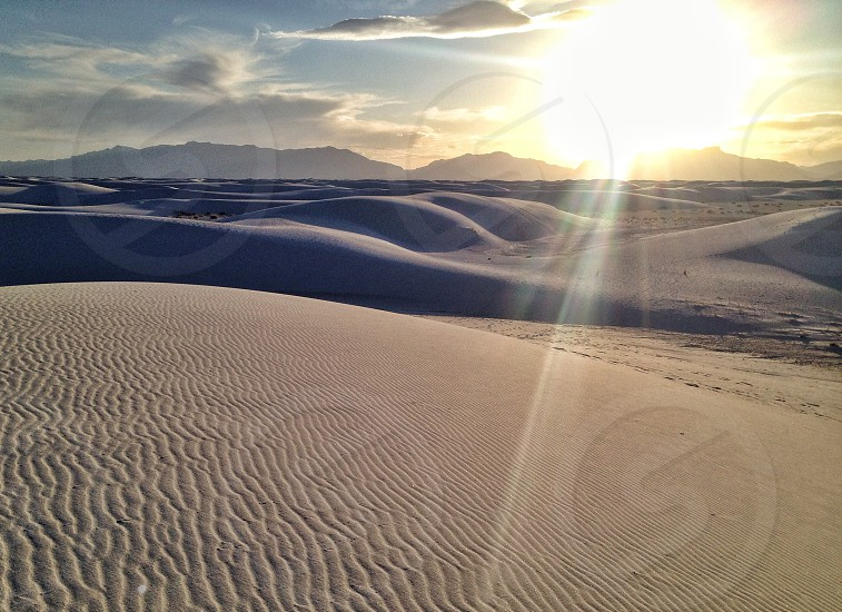 beige and gray sand dunes photo