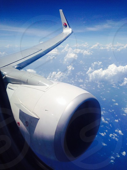 Malaysia Airlines B737-800 flying at 37000ft over South China Sea photo