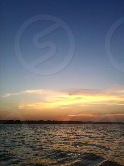 Lake Lewisville sunset  photo