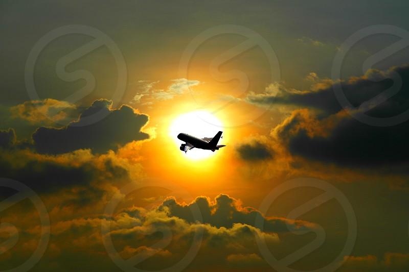 air plane silhouette  photo