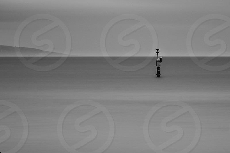 Bay water long exposure Lee filters Australia Victoria Beaumaris Ricketts Point pylon silky sky black and white bnw marker yachting winter photo
