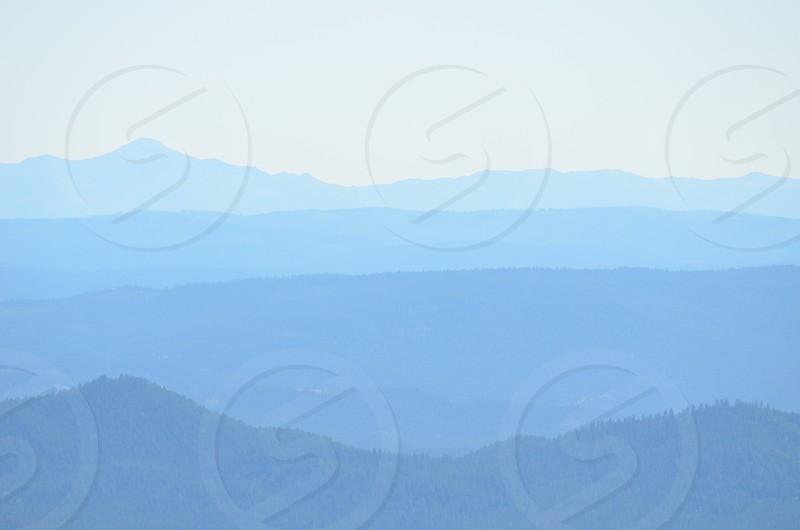 Hills mountains sky terrain landscape nature environment shades of blue photo