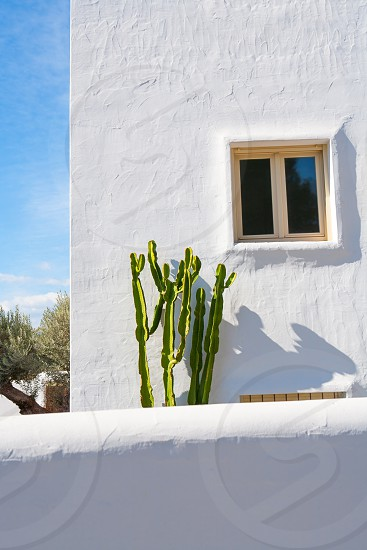 White Mediterranean houses in Javea alicante at spain photo