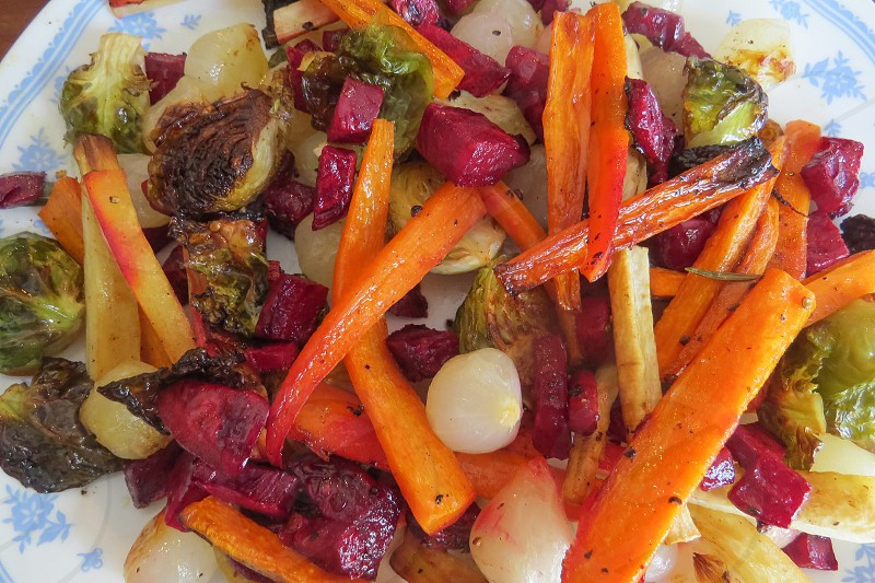 Roasted vegetables healthy organic garden photo