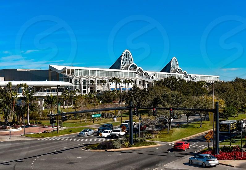 Orlando Florida. January 12 2019 Panoramic view of Orlando Convention Center at International Drive area. photo