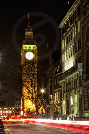 architecture ben big blue bridge britain british building bus capital city clock dusk england famous historical kingdom landmark light london night parliament sightseeing tourism touristic tower traffic trails travel uk united westminster photo