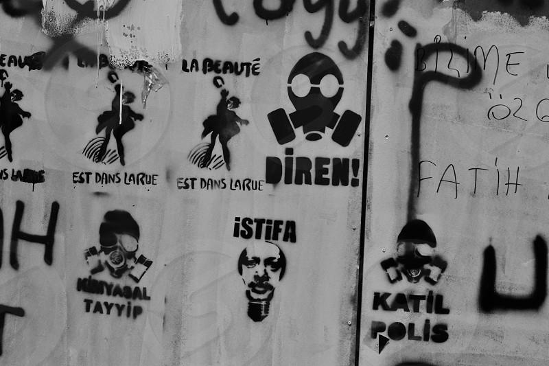 Istanbul Turkey Protest Street Art Graffiti photo