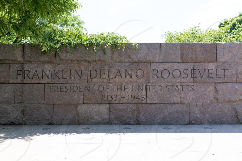 Franklin Delano Roosevelt Memorial in Washington DC USA photo