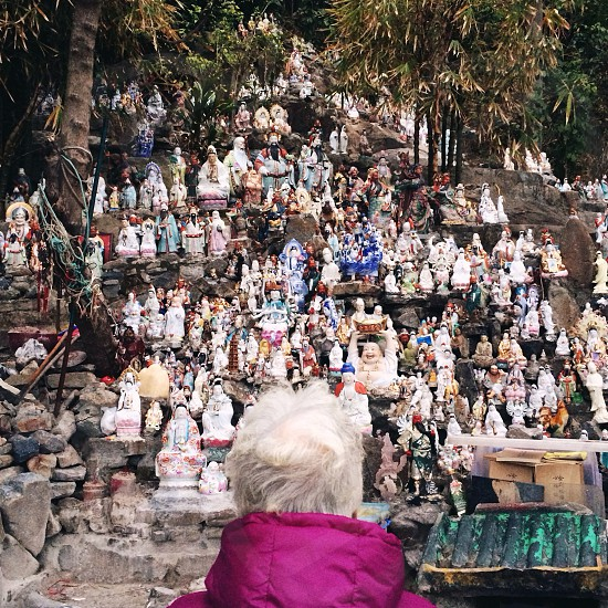 white saint statue  photo