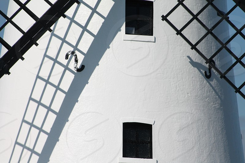 The shadow of the Windmills Sails photo