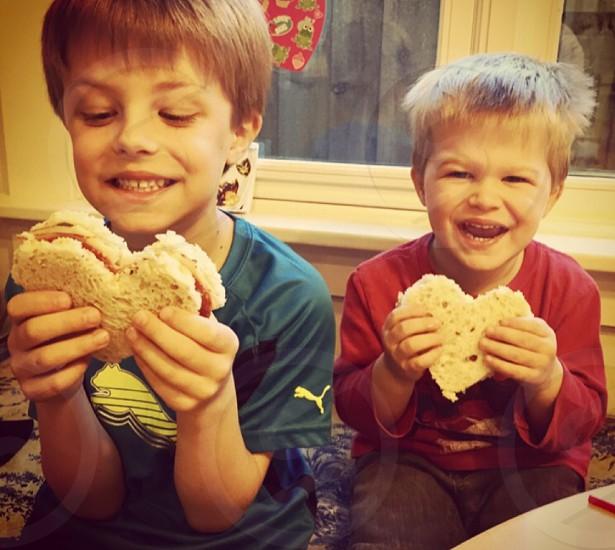 Kids eating yummy hotel fun photo