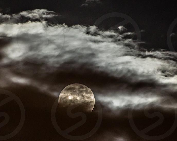 Spooky moon-rise photo