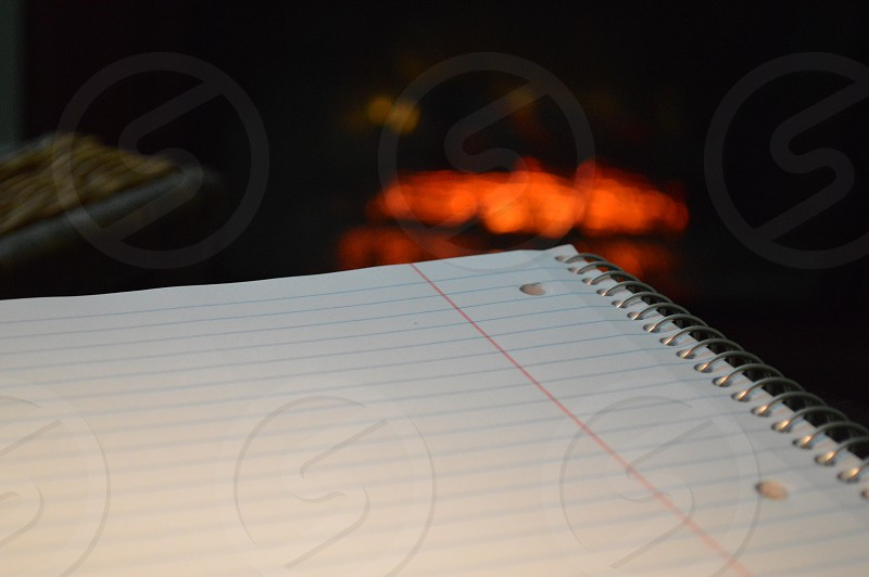 white spiral notebook photo