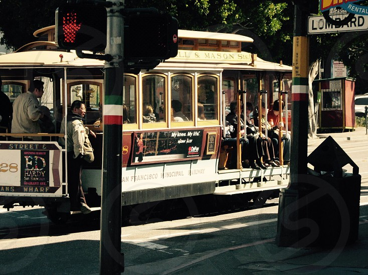 trolley on the street photo