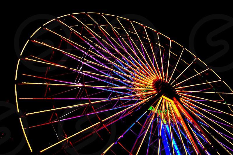 Ferris wheel at night  photo