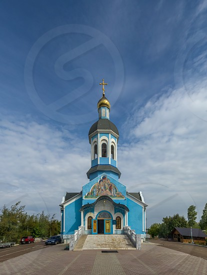 Yuzhne Ukraine - 09.03.2018. Holy Vvedensky Church  in Yuzhny  port city in Odessa province of Ukraine on the country's Black Sea coast. photo