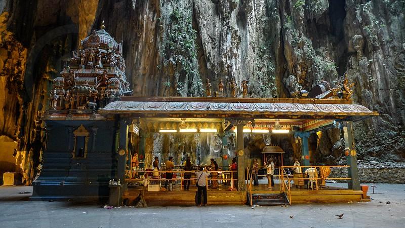 Praying ceremony in Batu Caves Kuala Lumpur Malaysia photo