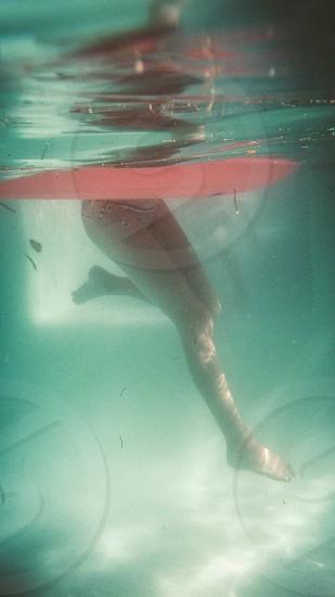 Girl water green photo