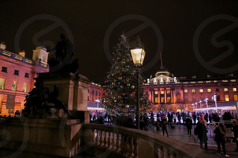 Somerset House in winter London. photo