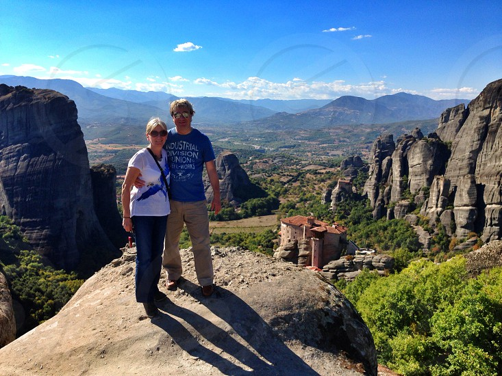 Best friends love travelling with my best friend on top of the world at Meteora photo