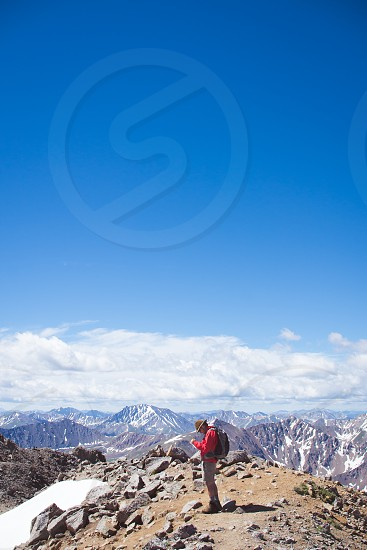 Mountains Rockies Colorado hiking climbing trails snow nature explore adventure photo