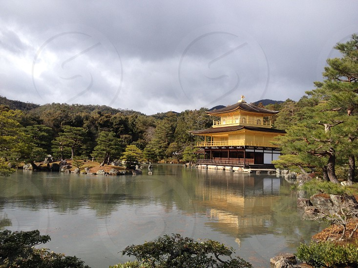 Golden temple Kyoto Osaka Japan photo