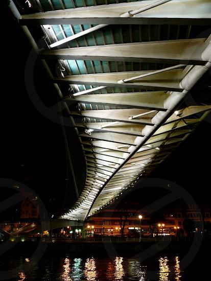 ribs of bridge from below Bilbao Spain photo