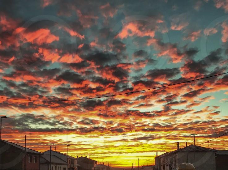 Amanecer cielo sol   Paisaje photo