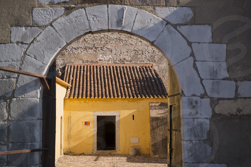 The Castilo in the town of Castro Marim at the east Algarve in the south of Portugal in Europe. photo
