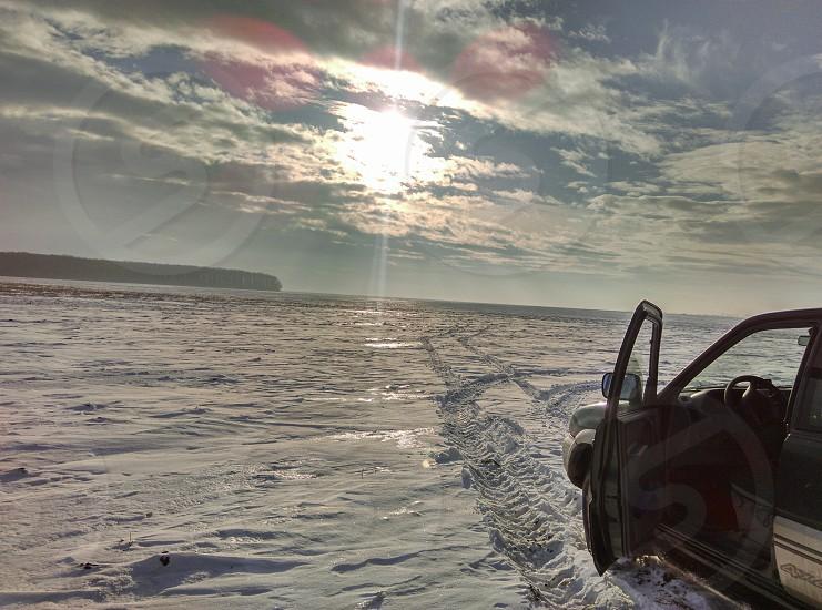 #nissan #terrano#lonely #winter #field photo