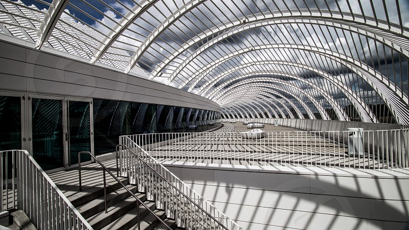 Santiago Calatrava's Florida Polytechnic.    This amazing architectural design includes a roof that adjusts to the suns position to regulate desired light. photo