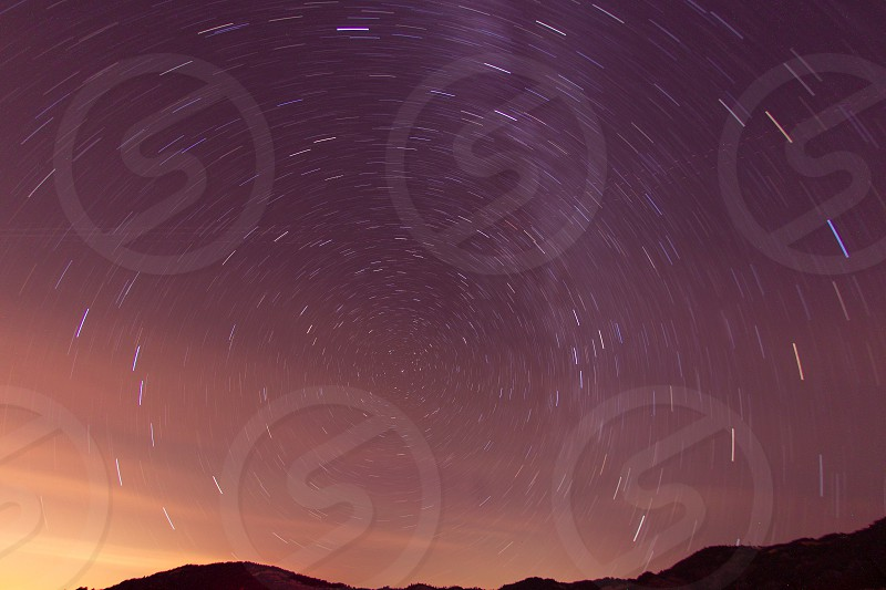 Stars star trails Galaxy North Star Polaris Milky Way night sky summer sky long exposure photo
