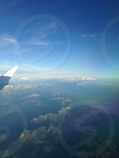 Swiss Alps; Mountains' Switzerland; Air; Plane; Travel photo