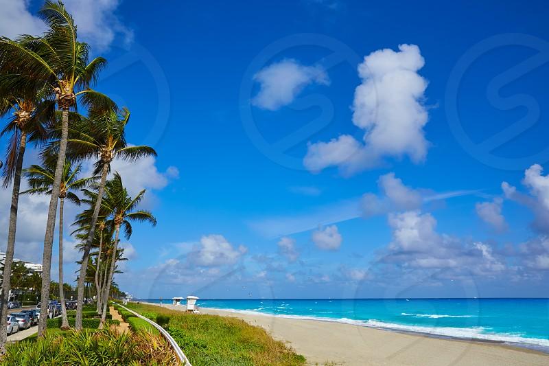 Palm Beach beach coastline in Florida USA photo