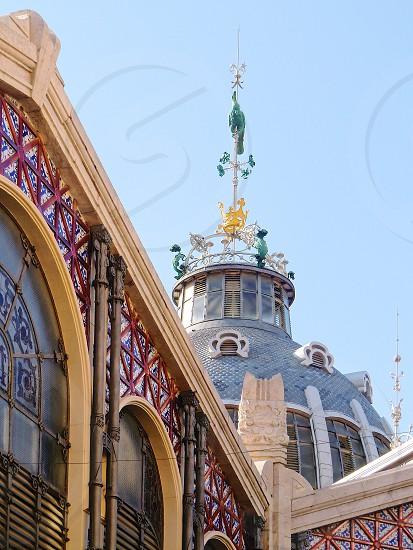 Beautiful architecture Valencia  Spain Mercado Central photo