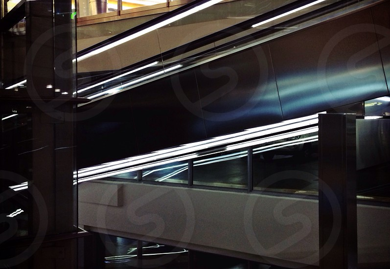 escalator machine with light on side photo
