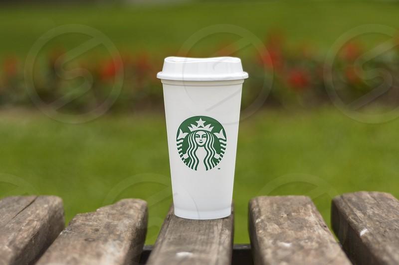 Starbucks coffee cup Belgrade Serbia photo
