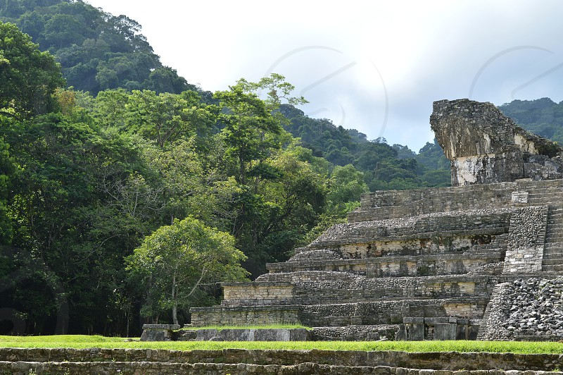 Palenque archaeological site in Chiapas  Mexico   photo
