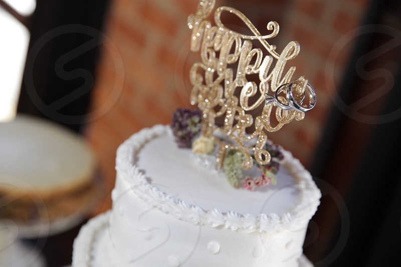 happily ever after wedding cake photo