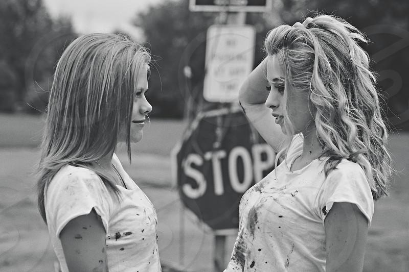 teenagers girls modeling rebels photo